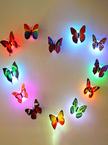 LED Flashing  Butterfly Night Light