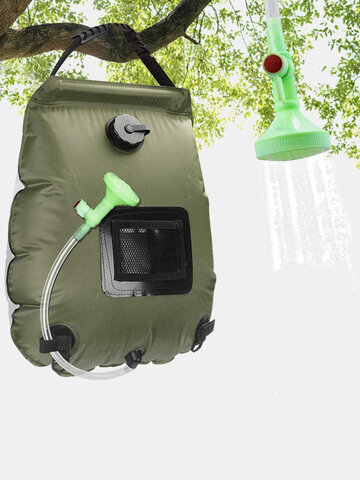 1 PC Shower System 20L Solar Heated Shower Bath Bags PVC Water Storage Bags Portable Switchable Folding Hiking Outdoor Camping Bath