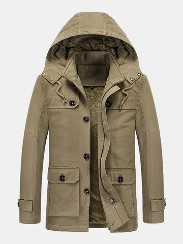 Winter Thicken Fleece Lined Parka