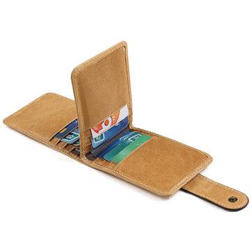 RFID Antimagnetic Genuine Leather 16 فتحات بطاقة حامل البطاقة