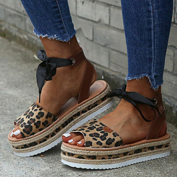 Comfy Wearable Espadrille Platform Wedges Sandals