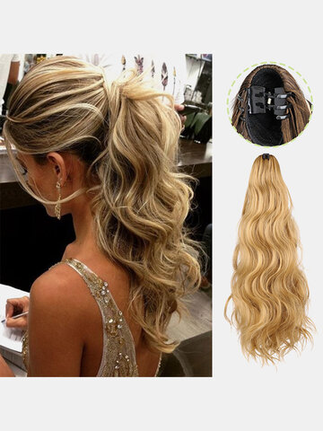 8 Colors Catch Clip Long Wavy Curly Wig