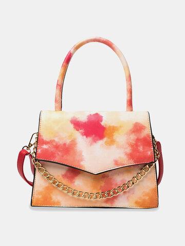 Chain Tie Dye Handbag Square Bag