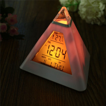 Reloj de alarma LED digital Pyramid
