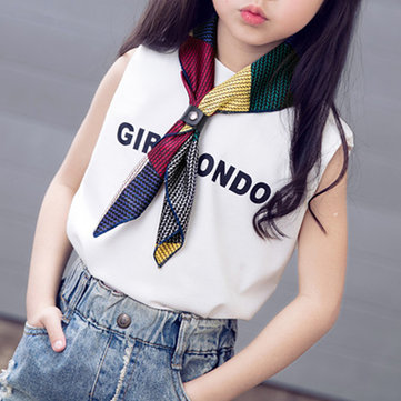 Girls Lovely Small Square Scarf Printing Foulard Neckerchief Bandana Scarves