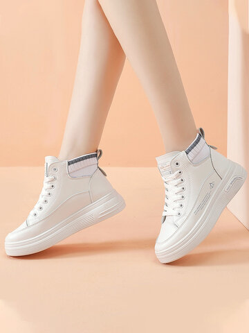 High Top Thick Sole Court Sneakers