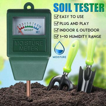 Soil Tester Light Detector Soil Acidity PH Meter Thermometer