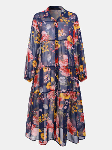 Calico Print Country Style Dress
