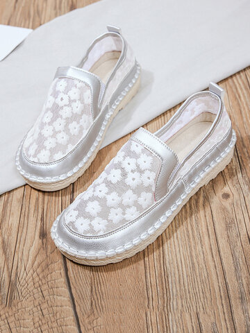 Elegant Round Toe Flat Loafers Shoes