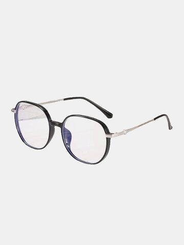 Unisex Oval Frame Flat-light Glasses