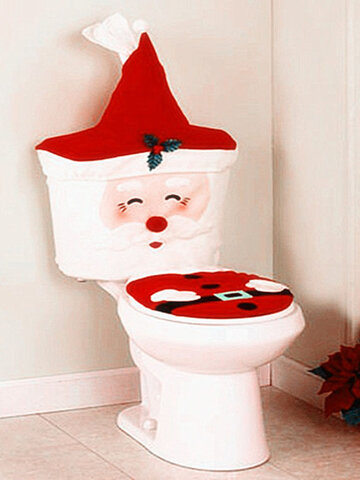 New Year Christmas Santa Toilet Seat Cover