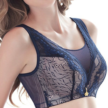 Wireless Gauze Adjustable Printed Thin Bras