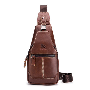 Vintage Genuine Leather Casual Sling Bag Crossbody Bag