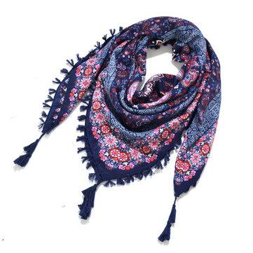 Sciarpa nappata con stampa sciarpa Sciarpa quadrata jacquard
