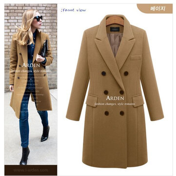 Medium Long Coat Temperament Woolen Coat