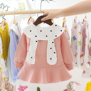 Doll Collar T-shirt Skirt Long Sleeves Princess Skirt