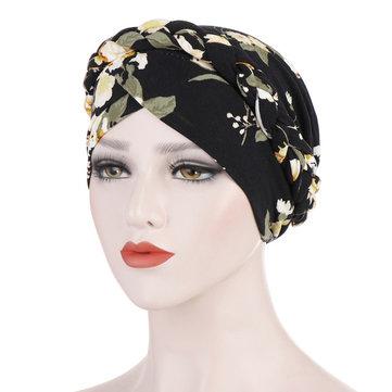 طبعت قبعة صغيرة قبعة الحرير مسلم قبعة من القماش زهرة