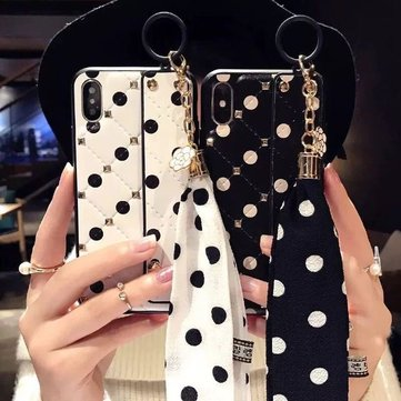 Lambskin Point Xs Max Phone Shell 7plus For Iphone6/8p/ Luxury Rivet Scarves