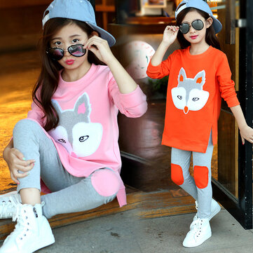 Girls Cartoon Sweater Leggings Set