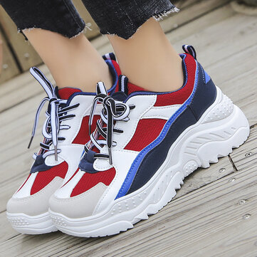 Sports Shoes Female Ulzzang Harajuku Wild Net Red Old Shoes New Casual Increase White Shoes
