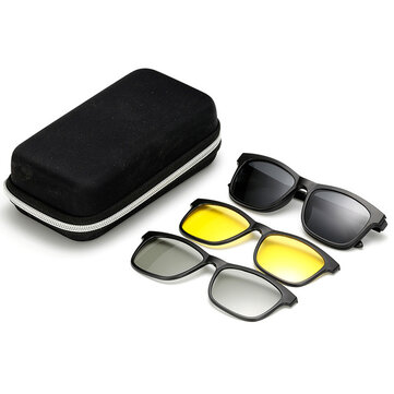 Магнитные зеркала Tr90 поляризованные солнцезащитные очки мужчин и Женское очки ночного видения для вождения смотреть 3d телевизор Очки