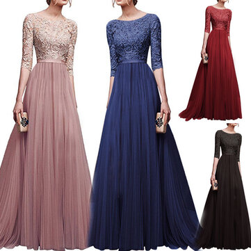 Evening Dress Chiffon Long Lace Dresses