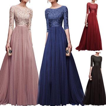 Evening Dress Chiffon Long Lace Dresses