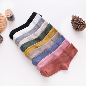 New Socks Solid Color Tube Socks Comfortable Versatile