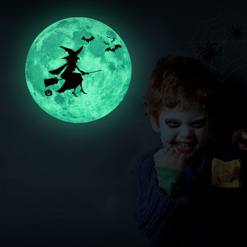 Halloween Luminous Moon Stickers