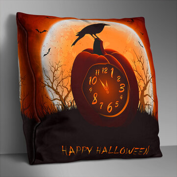 Double-sided Printed Polyester Halloween Cushion Cover