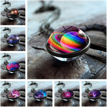 Double-sided Glass Ball Necklace