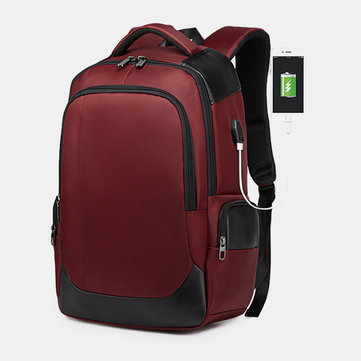 Business Casual Waterproof USB Charging Port Backpack For Me