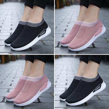 Lässige Mesh Pink Sneakers