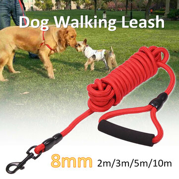 Dogs Leads Walking Leash Outdoor Pet Puppy Cinto Training Strap Collar Corda Vermelho