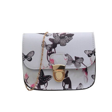New Women's Bag Tide Fashion Plug Chain Single Shoulder Messenger Bag Daffodil Small Square