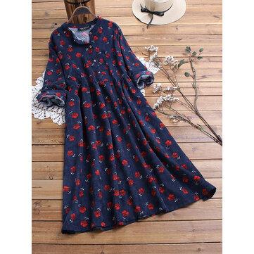 Floral bedruckt Vintage Kleid