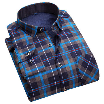 [Vatican New Year's Day Welfare 48 Yuan] FW8007 Men's Plaid Warm Shirt Plus Thick Shirt
