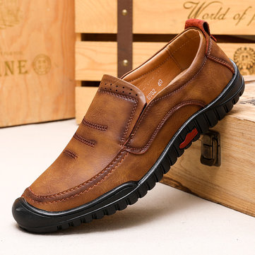 Men Microfiber Leather Non-slip Casual Shoes