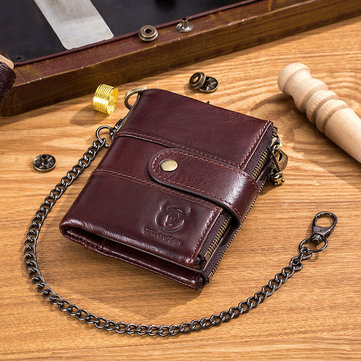 RFID Genuine Leather Casual Wallet  For Men