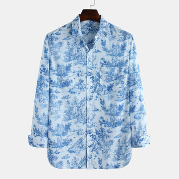 Mens Casual Chinese Style Fashion Shirt