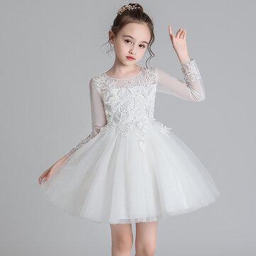 Niña Encaje Tul Princesa Vestido Para 4-15Y