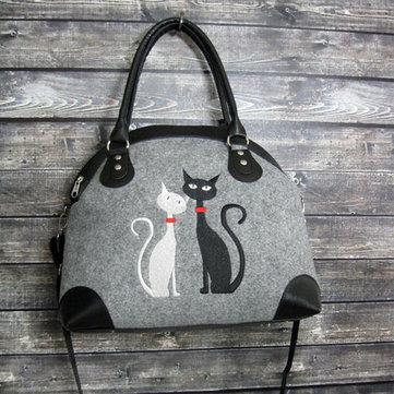 Damen Umhängetasche Katze Musterhandtasche