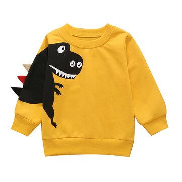 Sweaterhirt do dinossauro da criança para 1-9A