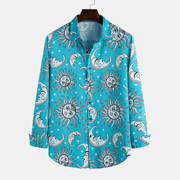 Mens Sun Cartoon Printed Shirts