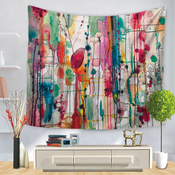 Watercolor Abstract Printing Wall Hanging Tapestries