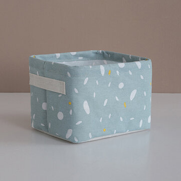 Printed Simple Cotton Linen Storage Basket