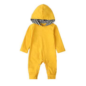 Baby Hooded Rompers For 0-24M