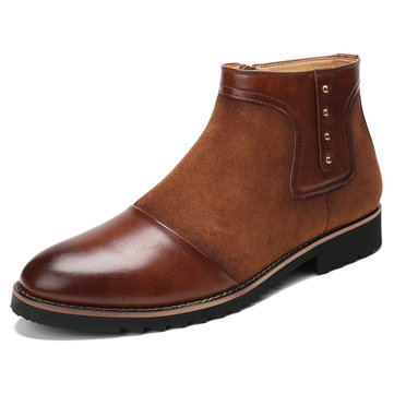 Menico Herren Stylish Cap Toe Chelsea Stiefel