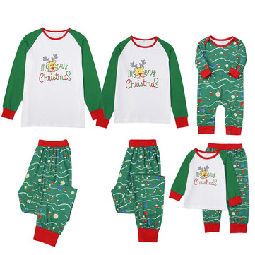 2Pcs Family Matching Clothes Pajama Set