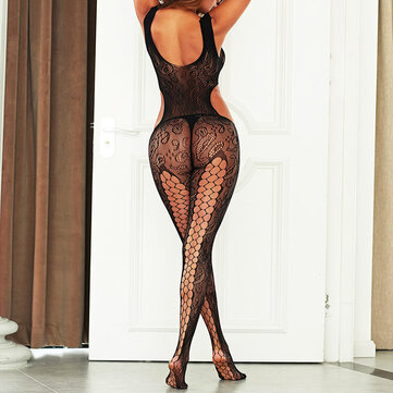 Cut Out Fishnet See Through Bodystockings